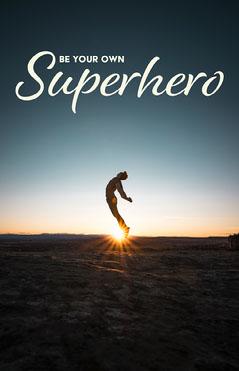 Sunset Superhero Poster Sky