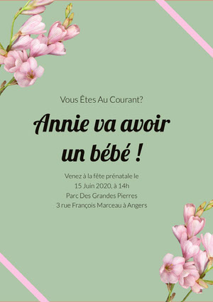 mint green baby shower invitations  Invitation fête de naissance