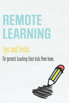 Blue and Yellow Pencil Remote Learning Tips and Tricks Pinterest Post Classroom