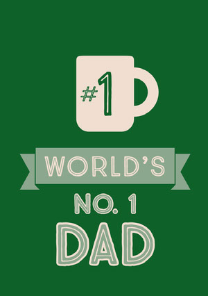Green and White Father's Day Card Father's Day Messages