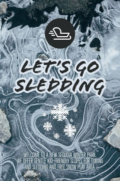 Let's go<BR>Sledding Play Poster