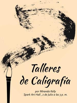calligraphy workshop event poster  Cartel de arte
