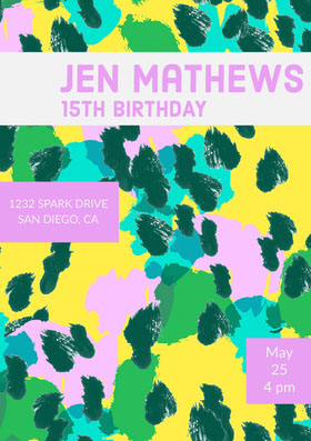 Colorful Birthday Party Invitation Birthday Invitation (Boy)