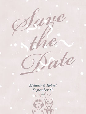 Pink Save the Date Wedding InvitationCard Save the date-kaart