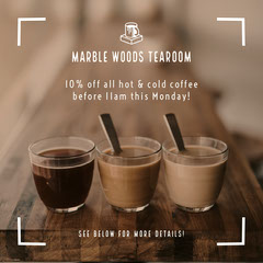 Local Coffee Shop Promotion Instagram Square Shopping