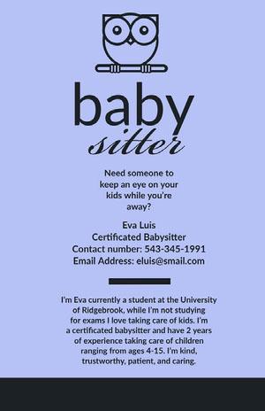 baby  Babysitting Flyer