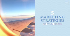White and Blue, Marketing for Travel Agencies, Instagram Landscape  Travel Agency
