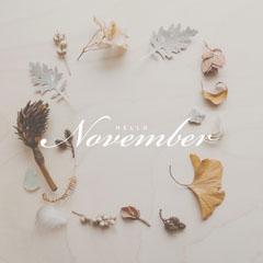 White, Minimalistic November Catchphrase Instagram Post Hello