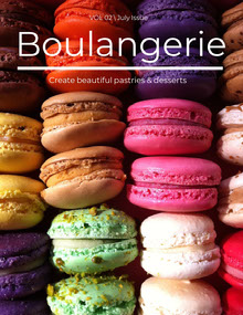 Colorful Cookies Boulangerie Magazine Cover Magazine Cover