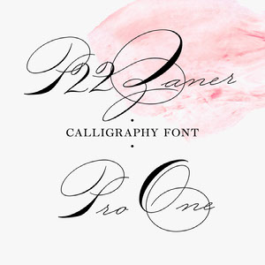 Pink Elegant Calligraphy Font Logo Brand Square Graphic 32 polices calligraphiques & scriptes