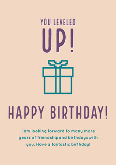 birthday card for neutral  Gift Card