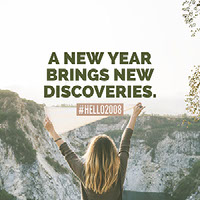 Warm Toned Adventure Woman in Mountains Instagram Graphic Happy New Year Quotes