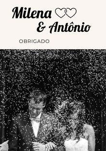 black and white photo wedding thank you cards  Cartão Obrigado pela presença