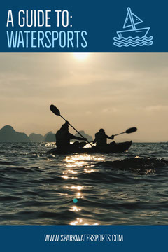 Blue Water Sports Guide Pinterest with Kayakers in Sea Sports