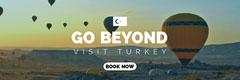 White and Blue Visit Turkey Banner Balloon