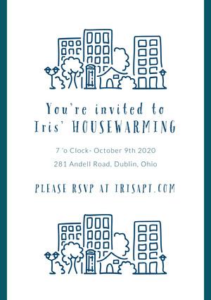 You're invited to <BR>Iris' HOUSEWARMING Housewarming Invitation