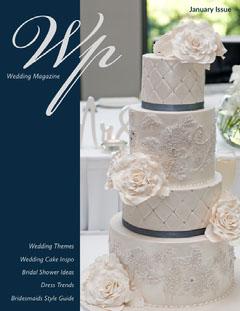 Navy Blue and White Wedding Cake Magazine Cover Fashion Magazines Cover