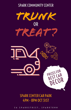 trunk or treat poster Car