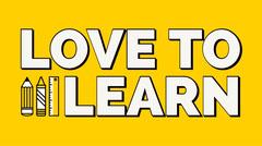 Yellow Bold Love To Learn School-Themed Blog Header Classroom
