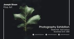 Green Leaf Joe DixonPhotography  Graduate Exhibition - Facebook Event Cover Photography