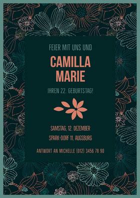 Camilla Marie  Einladung zum Geburtstag