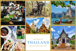 Thailand Travel and Tourism Mood Board Montage photo