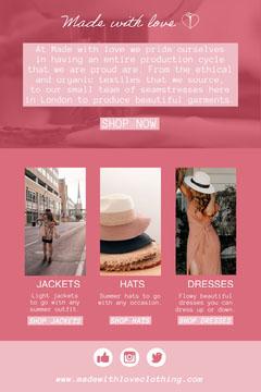 pink white womens clothing brand newsletter Pinterest  Shopping