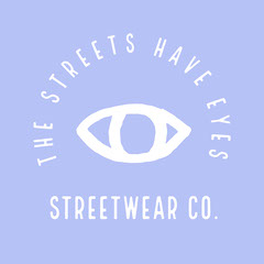 Purple and Grey The Streets Have Eyes Streetwear Logo Square Purple