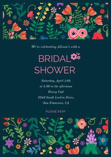 BRIDAL <BR>SHOWER  Convite de casamento