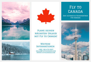 fly to Canada travel brochures  Flugschrift