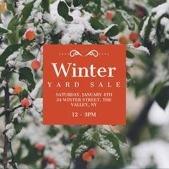 winter yard sale Yard Sale Flyer