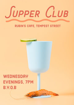 Supper Club Poster Cafe