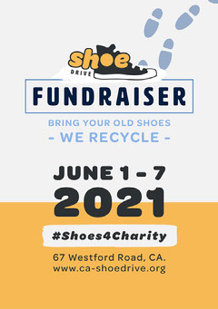 Black and Yellow Shoe Drive Poster Fundraiser
