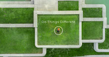 Green and Grey Do Things Different Banner Facebook-Titelbild
