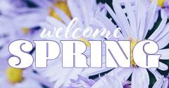 White Spring Instagram Landscape  Welcome Poster