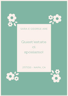 light blue floral wedding cards  Biglietti di ringraziamento per il matrimonio