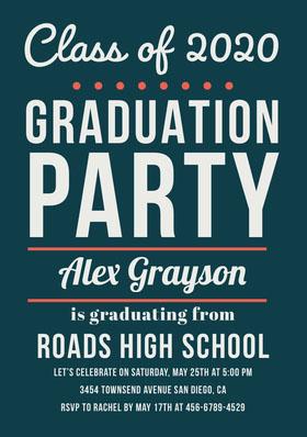 PARTY Graduation Invitation