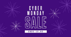 purple fireworks cyber monday sale Black Friday