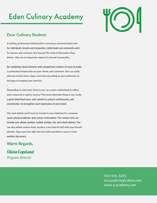 Green and Grey Professional Letter Lettera