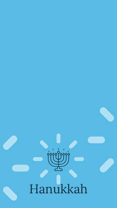 Blue Hanukkah Social Post Religion