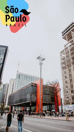 Light Toned, City Street, Sao Paulo, Brazil, Travel Ad, Snapchat Story City