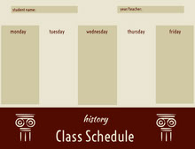 Beige and Brown Weekly History Class School Schedule 일정
