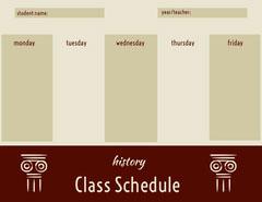 Class Schedule  Teacher