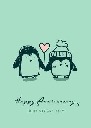 Blue Happy Anniversary Card Anniversary Card Messages