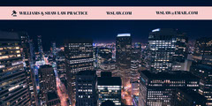 Lawyer LinkedIn Banner with City at Night City