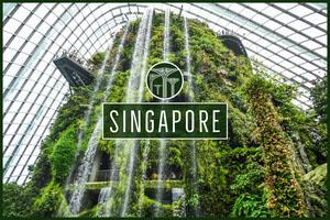 Singapore postcard Urlaubspostkarte