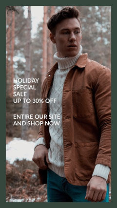 Cold Toned Holiday Sale Ad Instagram Story Holiday Sale