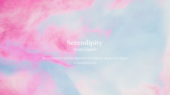 Pink and Blue Pastel Color Toned Serendipity Definition Facebook Banner Tamaño de imagen de Twitter