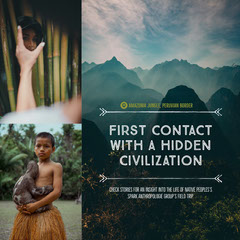 Amazon Native Tribe Travel and Tourism Square Instagram Social Post Border