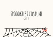 Spider and Cobweb Halloween Party Best Costume Card Festa di Halloween
